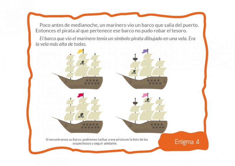 El tesoro pirata - 4-5 años - Zalunira México
