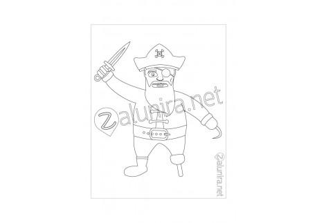 Dibujos Para Colorear El Tesoro Pirata Zalunira México